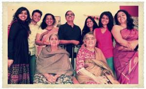 With extended family..